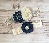 Rustic Police Officer's Wife Ivory Custom Badge number Ivory Lace Wedding Garter Police Sheriff Thin Blue Line