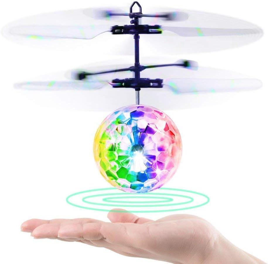 Betheaces Bolas Voladoras, RC Helicopteros Teledirigidos con Luces LED Brillantes, Juguete Volador Mini Dron Juguete para Niños 3 4 5 6 7 8 9 10 11 12 Años Regalos Navidad Cumpleaños