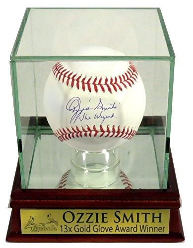 "Ozzie Smith Autographed Official MLB Baseball w/ ""The Wizard"" Inscription w/ Custom Case (COA) ()"
