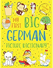 My First Big German Picture Dictionary: Two in One: Dictionary and Coloring Book - Color and Learn the Words - German Book for Kids with Translation and Pronunciation