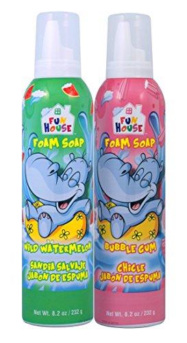 Fun House Kids Foam Soap Wild Watermelon & Bubble Gum,2 Pack ()
