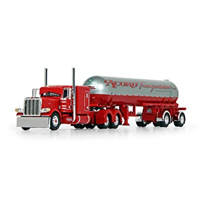 "First Gear 1/64 Scale Diecast Collectible Accord Transportation Red Peterbilt Model 389 63"" Flattop Sleeper with Mississippi LP Tank Trailer (60-0691): Toys & Games"