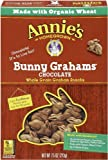 Annie's Homegrown Bunny Grahams, Chocolate, 7.5-Ounce Boxes (Pack of 6)