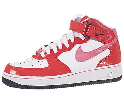 buy popular d7d0c add00 NIKE Girl (Youth) 'Air Force 1 Mid ' Leather Casual Shoes White 7