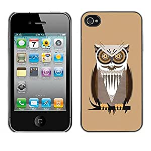 Be Good Phone Accessory // Dura Cáscara cubierta Protectora Caso Carcasa Funda de Protección para Apple Iphone 4 / 4S // The Professor Night Owl