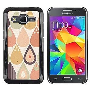 Paccase / SLIM PC / Aliminium Casa Carcasa Funda Case Cover para - Tears Raindrops Vignette Hipster Pattern - Samsung Galaxy Core Prime SM-G360