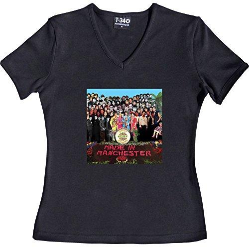 T34 - Camiseta - Mujer V-Neck Black Women's T-Shirt