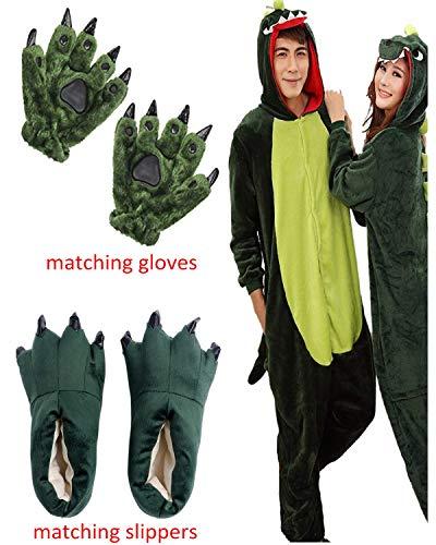 ReachMe Adult Animal Onesies Pajamas Stitch Skeleton Dinosaur