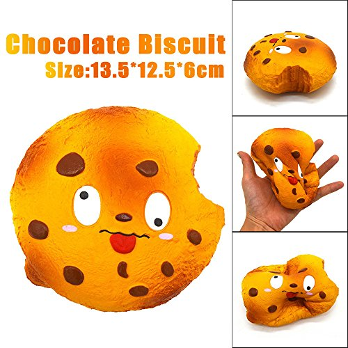 [Kanzd 14CM Chocolate Biscuit Scented Squishy Slow Rising Squeeze Strap Kids Toys Gifts (Orange)] (Into The Woods Costumes Movie)