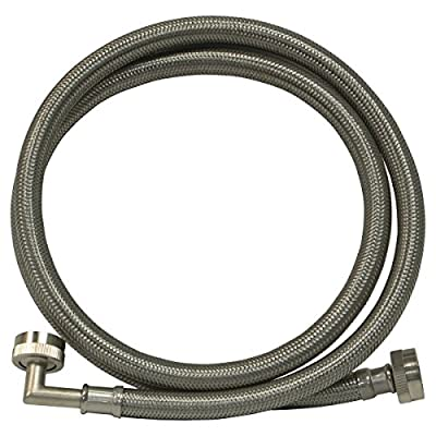 EZ-FLO 48374 Eastman Washing Machine Hose with 90-Degree Elbow, 3/4-Inch X 3/4-Inch