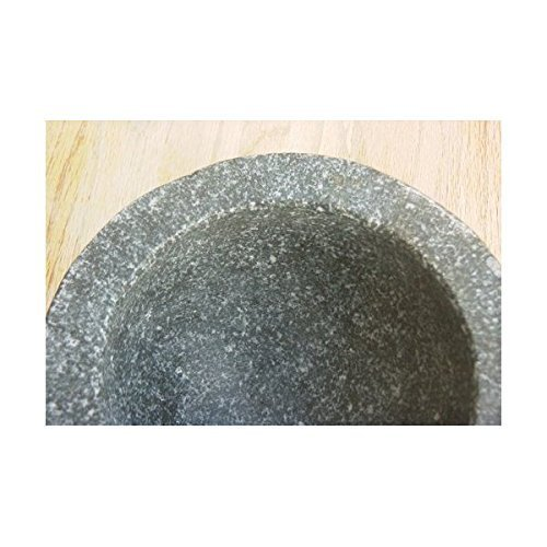 M.V. Trading MTP92 Stone (Granite) Mortar and Pestle, 9-Inch, 5+ Cup Capacity