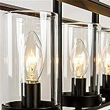 JinYuZe Black 5-Light Kitchen Island Light,Clear