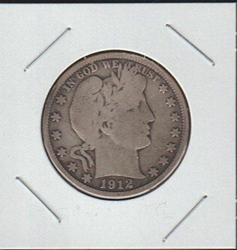 1912 Barber or Liberty Head (1892-1915) Half Dollar Fine