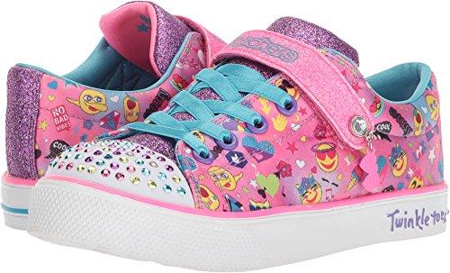 SKECHERS KIDS Girl's Twinkle Breeze 2.0 10926L Lights (Little Kid/Big Kid) Hot Pink/Multi 3 M US Little Kid