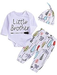 Newborn Baby Boys Cute Outfit Little Brother Arrow...