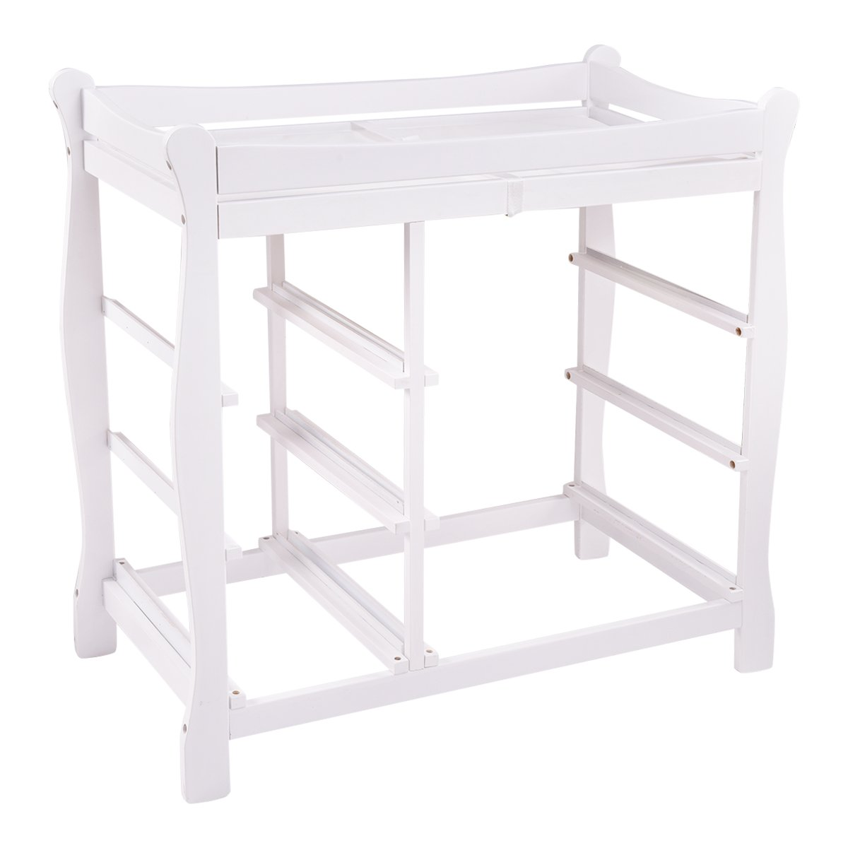 Costzon Baby Changing Table Infant Diaper Nursery Station w/6 Basket Storage Drawers (White) by Costzon (Image #2)