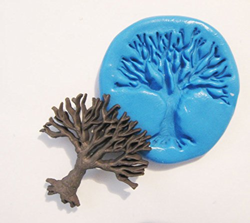 Tree Flexible Food Grade Silicone Push Mold for Polymer Clay, Resin,wax,miniature Food,sweets,plaster