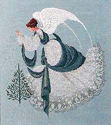 Lavender & Lace Counted Cross Stitch Chart Pattern ~ ICE Angel ()