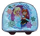 Disney Store Frozen Anna and Elsa Rolling Snowflake Luggage