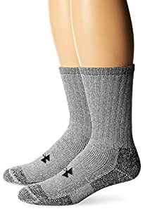 Under Armour Men's ColdGear Boot Socks (2 Pair), Grey, Large