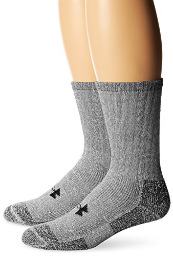 Boot Winter Socks (Under Armour Men's ColdGear Boot Socks (2 Pair), Grey, Large)