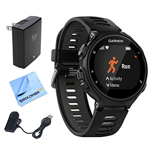 Garmin Forerunner 735Xt Gps Running Watch   Black Gray  010 01614 00  W  Accessories Bundle Includes  Extreme Speed Charging Clip  Universal Usb Travel Wall Charger   1 Piece Micro Fiber Cloth