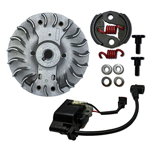 Zenoah Flywheel (TOP SPEED RC WORLD8000 RPM Clutch Shoe/Flywheel Kit and Ignition Coil Set for Hpi Baja 5B 5T 5SC)
