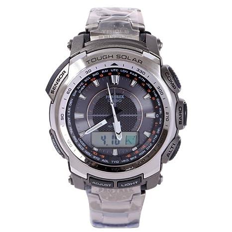 Amazon.com: Titanium Casio Protrek Triple Sensor Solar Watch ...