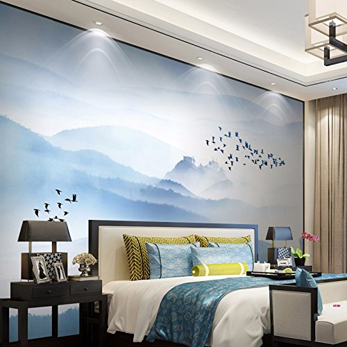 Modern Chinese Painted, Sofa, Tv Wall At The Rear - Plan, Freehand A Brush Stroke, Paint To The Ink, Wallpaper, Murals,The Piece Of Cloth / Square Meters Of (Brushstrokes China)