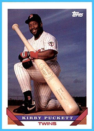 1993 Topps #200 Kirby Puckett RIP HOF MINNESOTA TWINS Huge Louisville Slugger Bat
