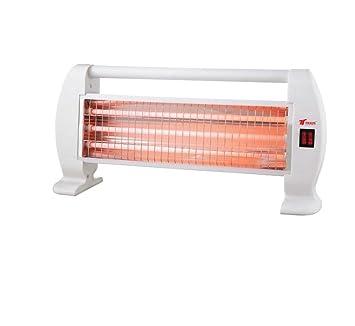 Estufa 1200W 3 tubos de cuarzo 1200W Calefactor Calentador Radiador Halogeno Calor para el hogar: Amazon.es: Electrónica