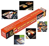 4TopTime BBQ Grill mats (set of 3) . Non-stick grill mat for grilling , oven and barbecue grills use . For Charcoal, Electric , Smoker or Gas Grill . Kitchen accessories / cooking .