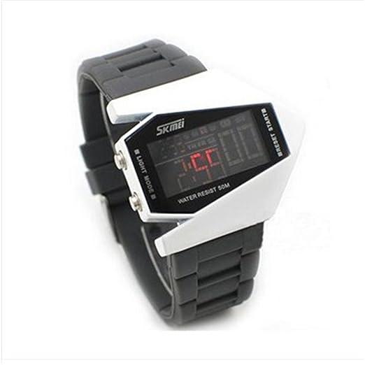 Reloj Digital para niños, Resistente al Agua, clásico, a la Moda, para Estudiantes, al por Mayor, Sk-006-0817: Amazon.es: Relojes