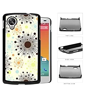 Connected Dots And Stars Pattern Mauve Hard Plastic Snap On Cell Phone Case LG Nexus 5
