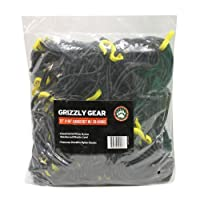 "Cargo Net with 28 Durable Nylon Hooks - Large 72"" x 96"" - Stretches to 100"" x 140"" by Grizzly Gear"
