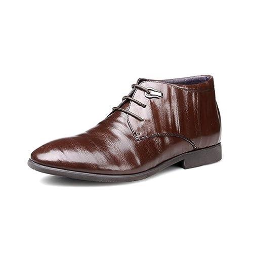Zapatos De Hombre Moda Casual Cálido Botines De Vestir Confort De Encaje Senderismo,Brown-42: Amazon.es: Zapatos y complementos