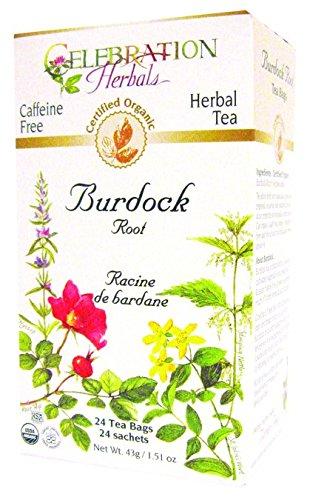 Celebration Herbals Organic Burdock Root Tea Caffeine Free -- 24 Herbal Tea Bags