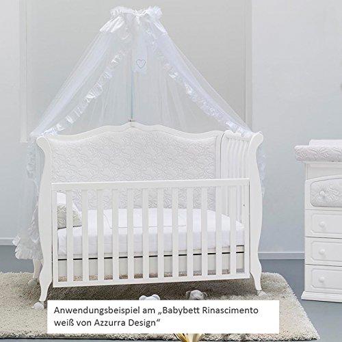 Azzurra Design Velo Zanzariera con Asta per lettino Bianco