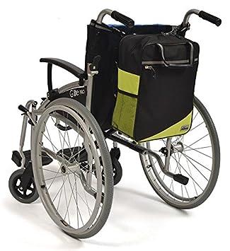 Simplantex wheelyscoot saco silla de ruedas negro/verde: Amazon.es: Salud y cuidado personal
