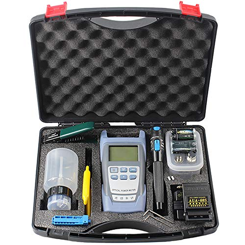 FTTH Fiber Cold Connection Tool Kit Optical Fiber Cleaver 5mW Aluminum Visual Fault Locator Cable Tester Stripping Tool Equipment