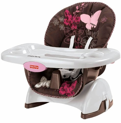 Amazon.com : Fisher Price Space Saver High Chair, Mocha Butterfly  (Discontinued By Manufacturer) : Childrens Highchairs : Baby