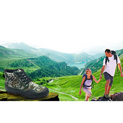 Chaussures de Sport Unisexe Respirant Camouflage Armée Chaussures DEntraînement Durable Non-Slip Haut-Baskets Chaussures de Travail en Plein Air Randonnée Trekking Bottes