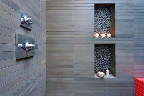 Charcoal Black Pebble Tile Sample