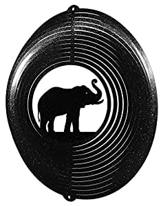 ELEPHANT CIRCLE Swirly Metal Wind Spinner