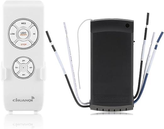 ONEVER Lámpara de Ventilador de Techo Kit de Control Remoto y ...