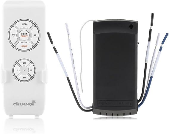 SmartHitech Ventilador de Techo y Lámpara Temporización Universal ...