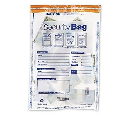 Amazon com : ABC Security Single Pocket Bank Deposit Bags