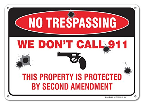 Trespassing Sign Private Property Aluminum