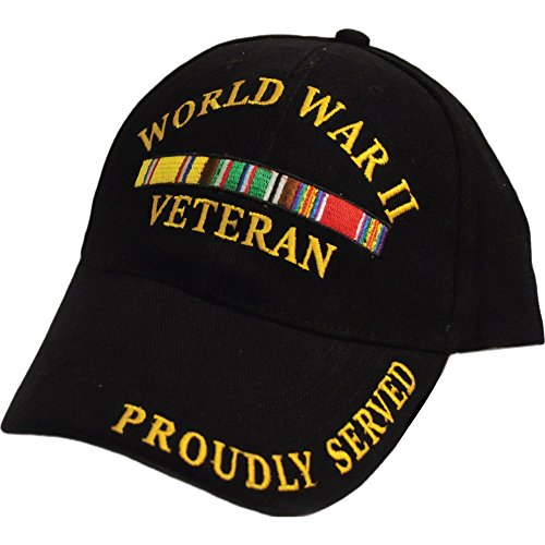 FindingKing World War II Veteran Proudly Served Hat Black