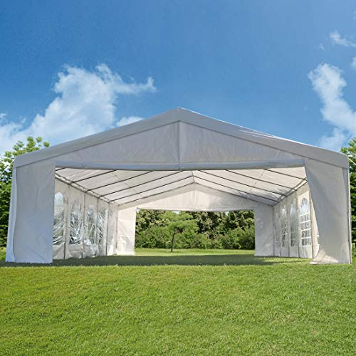 20 X32 Party Tent Heavy Duty Wedding Tent Outdoor Gazebo Event Shelter Canopy with 5 Carry Bags